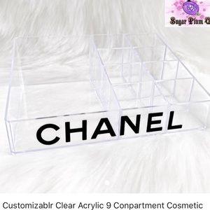 Acrylic make up holder with nine sides